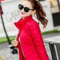 轻便小款羽绒服女短款轻薄修身显瘦2017新款轻薄韩版短装潮 红色 大红1