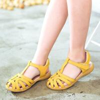 女童凉鞋夏季包头儿童凉鞋小中童护趾公主鞋学生鞋子