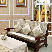 实木沙发垫带靠背加厚海绵中式红木沙发坐垫联邦椅垫