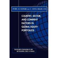 【预订】Country, Sector And Company Factors In Global Equity