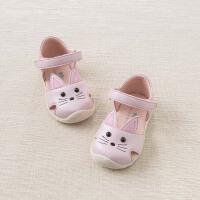 戴维贝拉夏季新款女童皮凉鞋宝宝卡通关键鞋DB6764