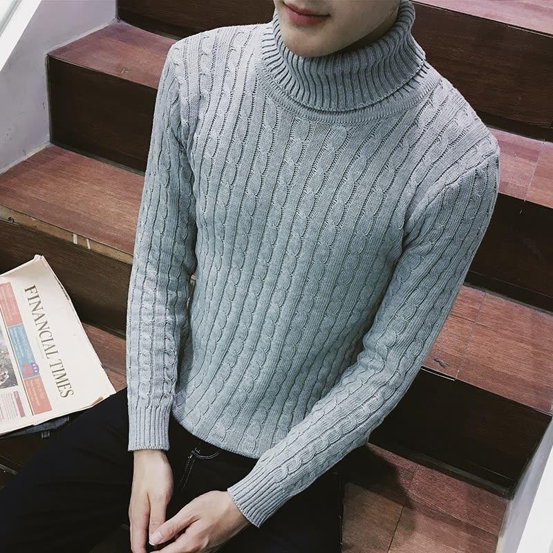 天紧身男土高领长领针织毛衣青年秋高龄长颈打底毛衫线衣 发货周期:一般在付款后2-90天左右发货,具体发货时间请以与客服协商的时间为准