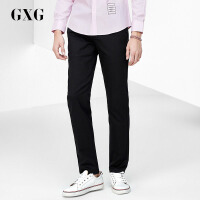 GXG休闲裤男装 秋季男士都市时尚都市潮流休闲流行黑色斯文长裤