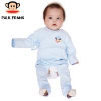 PWU1731017大嘴猴(paul frank)婴儿长袖系带套装男童纯棉内衣一入装