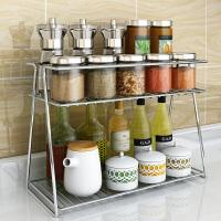 双层调料架子厨房用品调料置物架调料收纳架调料瓶架储物架调味架 网格调料架