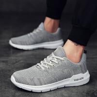 新款男鞋夏季透气休闲运动鞋韩版潮流板鞋飞织潮鞋轻便跑步鞋