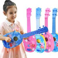 小猪佩奇尤克里里琴儿童初学者小吉他玩具佩琪仿真弹奏乐器男女孩