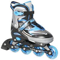 男女旱冰鞋滑冰儿童可调套装闪光直排初学轮滑鞋成年人溜冰鞋