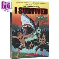 【中商原版】I Survived系列学乐我是生存者漫画章节书2 the Shark Attacks of 1916 儿童