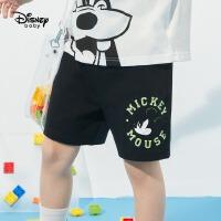 【2件2.4折价:33.3元】迪士尼男童裤子2021夏季新款儿童短裤运动裤潮牌童装薄款帅气时髦