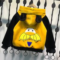 男童外套秋冬装2018新款儿童小宝宝洋气加绒加厚绒上衣夹克潮