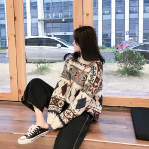 【只亏一天,抢完涨价】网红毛衣女慵懒风短款2019新款冬韩版宽松chic高领套头针织衫加厚