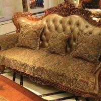 美式沙发垫布艺防滑四季通用真皮沙发巾欧式123组合三件套可订做