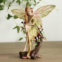 欧式创意家居装饰品摆件婚庆工艺品情人节礼物花仙子森林天使