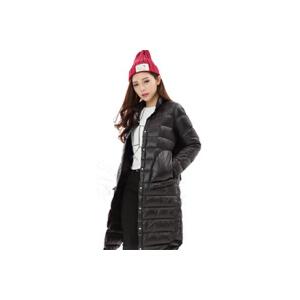 yaloo/雅鹿新款冬装时尚中长款立领轻薄羽绒服女装薄款