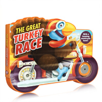 英文原版 异形书 发声书 The Great Turkey Race: with a Roaring Engine S