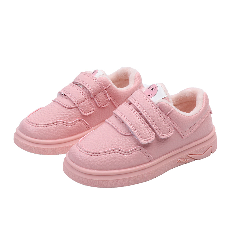 秋冬新款女童棉鞋加绒童鞋 男童保暖鞋防水儿童宝宝鞋子
