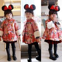 西西自留款 中国风金线刺绣拜年服女童年服新年装旗袍唐装裙
