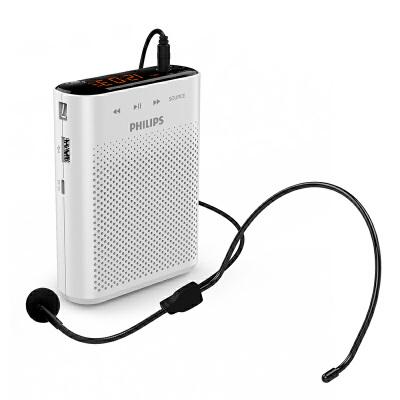 Philips/飞利浦 sbm210有线小蜜蜂扩音器教师导游专用耳麦便携式户外讲 家电自营