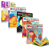 【中商原版】凯伦卡茨:宝宝的绘本故事5册 Where Is Baby's 名家绘本 纸板书 低幼童书 亲子绘本 1~4岁