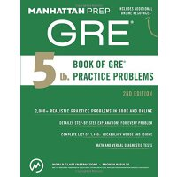 5 lb. Book of GRE Practice Problems GRE难点/考试练习题【英文原版】
