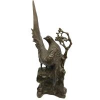喜鹊报喜黄铜喜鹊家居饰品喜上眉梢喜鹊登梅摆件铜喜鹊