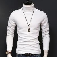 秋冬季高领男打底衫加厚保暖衣纯色男士长袖t恤男装上衣服修身潮