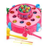 儿童钓鱼玩具大号打地鼠电动玩具0-1-2-3-4-岁男孩女孩一岁宝宝玩具儿童生日礼物 双层带灯光音乐【2锤+2鱼竿】电