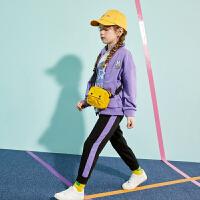 【1件4折:158】巴拉巴拉旗下巴帝巴帝女童长袖套装儿童运动服2020春装新款洋气开衫女