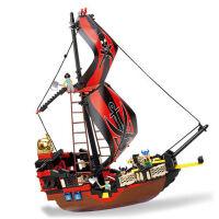 积木 拼装玩具男孩加勒比海盗船黑珍珠号积木智力 黑珍珠号积木