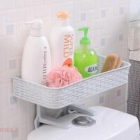 浴室置物架壁挂卫生间用品吸壁式免打孔厕所马桶多功能塑料收纳架