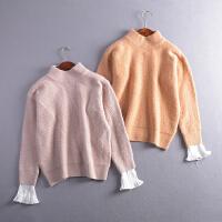 【1斤】#26秋季韩版新款时尚气质圆领套头保暖针织打底衫潮Z