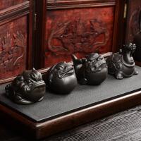 茶具配件 摆件茶道零配茶玩可养金蟾龙龟