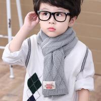 韩版秋冬保暖男童小孩毛线围巾儿童针织宝宝女童围脖潮中小童