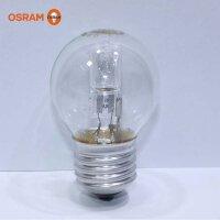 欧司朗卤素灯泡18W/20W/28W/E27黄光P型小球型透明灯泡(新老产品*发)