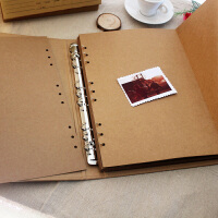 同学录复古手工相册影集 A4空白活页本子DIY粘贴式拍立得牛皮纸