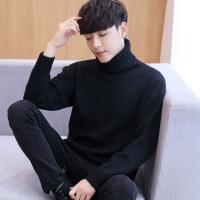 冬季男士高领毛衣男白色韩版修身翻领加厚长袖针织衫线衣2018冬装