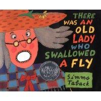 英文原版儿童书 There Was an Old Lady Who Swallowed a Fly 有个老婆婆吞了一只