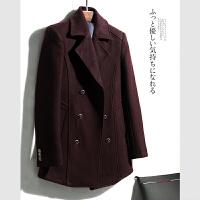 男士冬季商务中长款挺括翻领呢大衣外套N1/2/34
