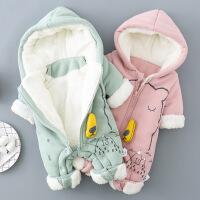 刚出生婴儿衣服新生儿秋冬装男宝宝连体衣冬棉加厚婴儿外穿爬爬服