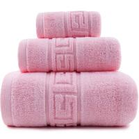 三利 精梳纯棉 A类 婴儿可用 吉祥缎档 割绒方巾面巾浴巾三件套 礼盒装