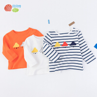 贝贝怡男女童长袖t恤秋季新款宝宝肩开透气洋气可爱卡通上衣193S2210