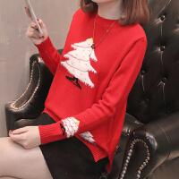 女士毛衣春装2018新款女短款针织套头打底衫上衣女韩版时尚百搭潮