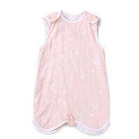 新品初生婴幼儿宝宝纱布睡袋分腿婴儿室内空调房