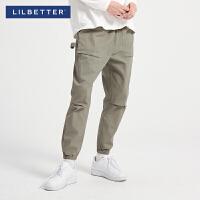 2折价:92;Lilbetter2019冬季新款韩版工装裤嘻哈宽松束脚裤男士休闲裤