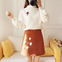 2017冬季新款女装套装裙两件套甜美可爱少女小个子矮显高155cm150 图片色套装