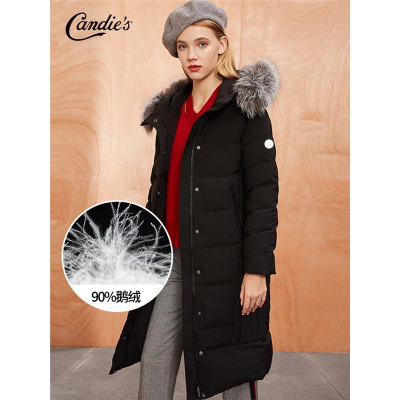 东大门羽绒服女士冬季新款宽松大衣连帽毛领派克服中长款外套