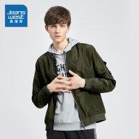 真维斯男装 春秋季 短款夹克外套
