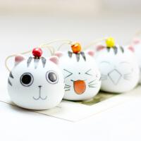 「大头猫木鱼」韩版卡通简约呆萌可爱创意陶瓷包包挂件送朋友礼品