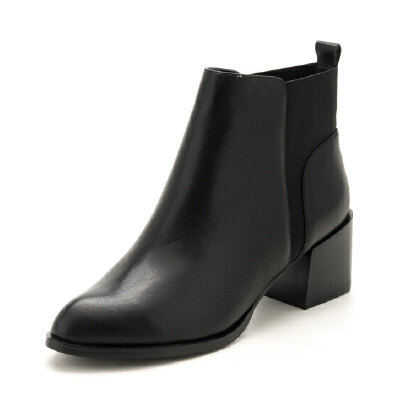 迪芙斯(D:FUSE)牛皮革尖头时尚短靴 DF74116113